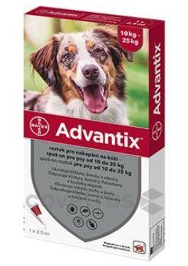 Advantix Spot On 1x2,5ml pro psy 10-25kg